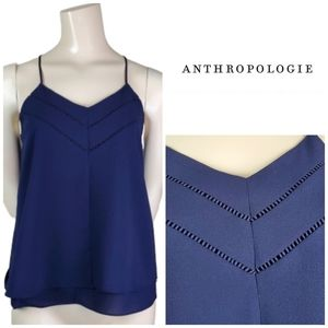 ANTHROPOLOGIE Paper Crane V Neck Layered Tank Top